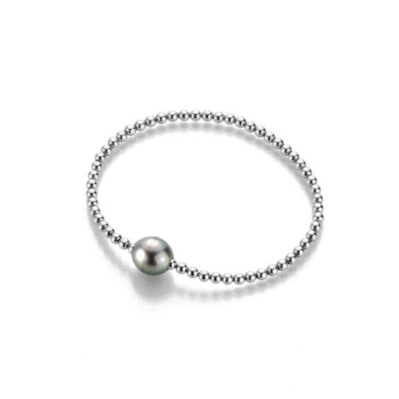 Armband aus Silber mit Tahiti-Zuchtperle