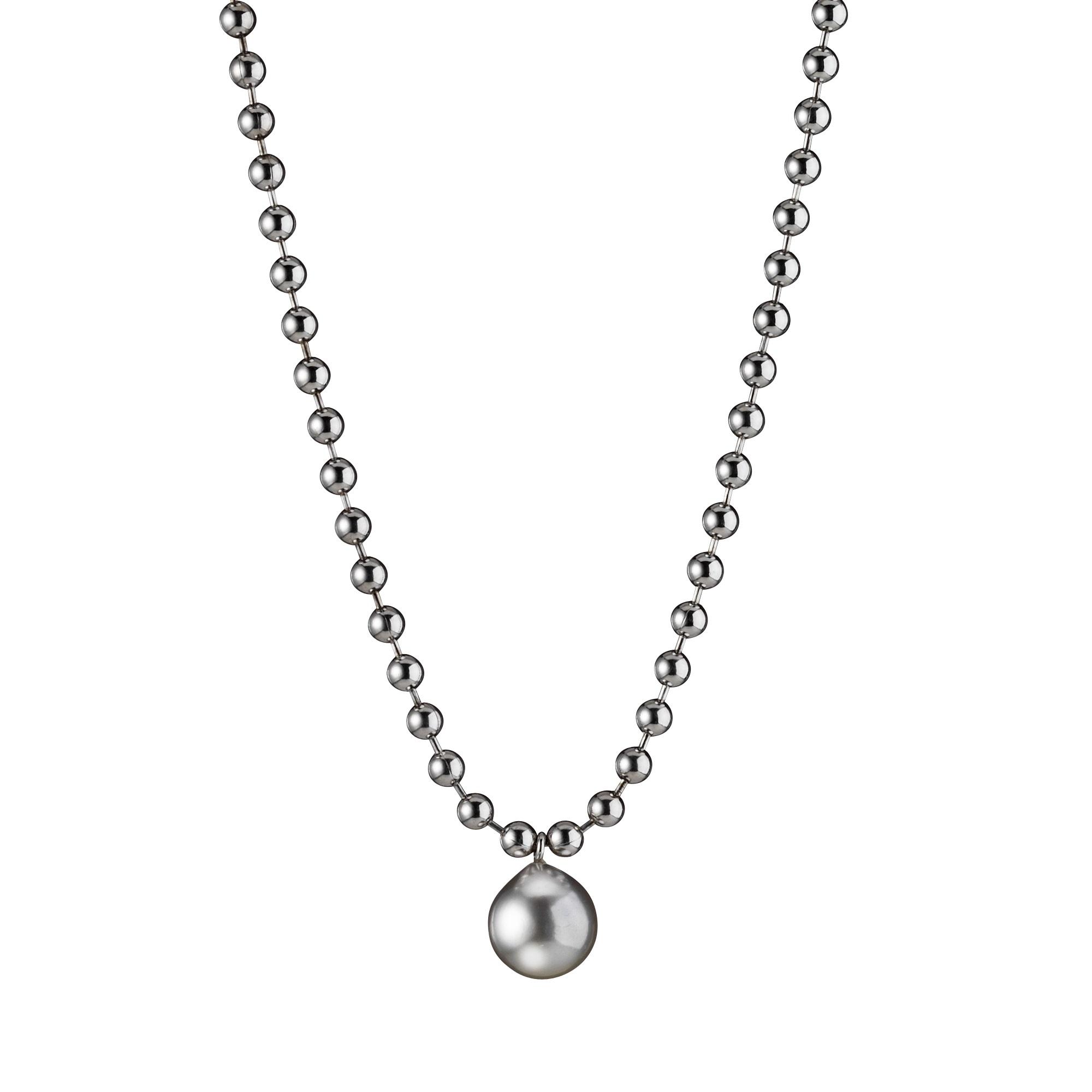 Collier aus Silber mit Tahiti-Zuchtperle