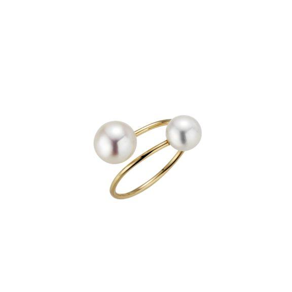Ring aus Gelbgold mit Südsee-Zuchtperlen