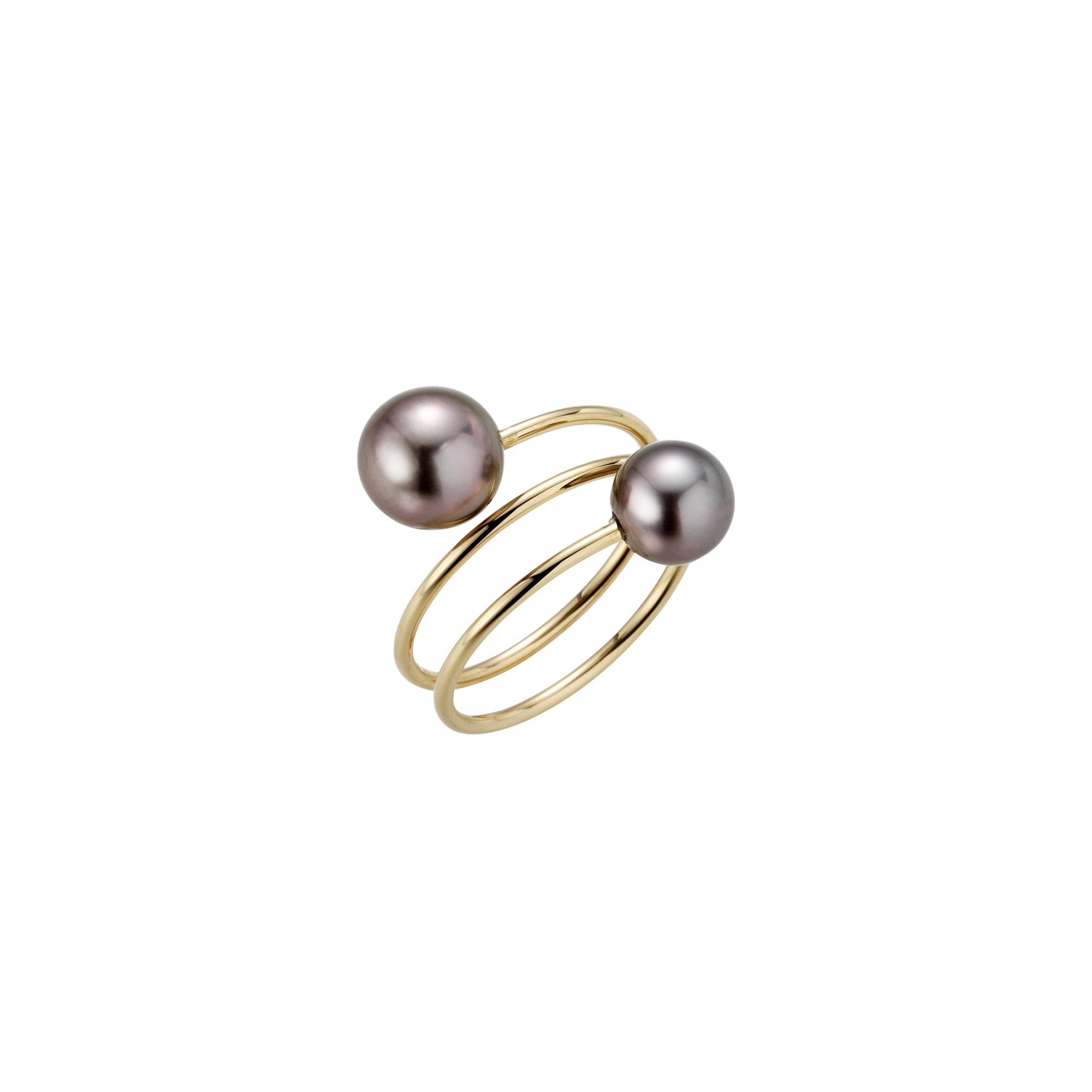 Ring aus Roségold mit Tahiti-Zuchtperlen