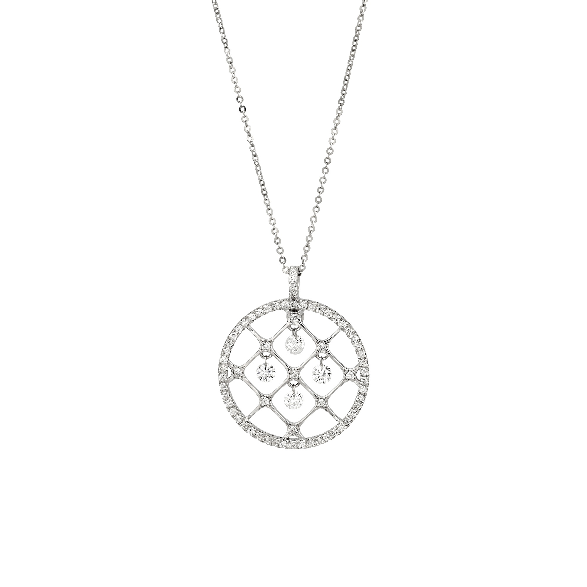 Collier aus Weißgold mit Diamanten