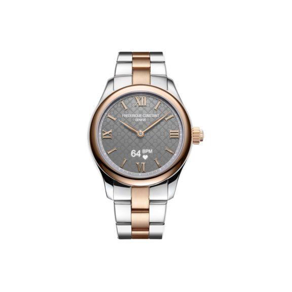 Frederique Constant Smartwatch Ladies Vitality mit Gehäuse und Band aus Edelstahl und vergoldetem Edelstahl