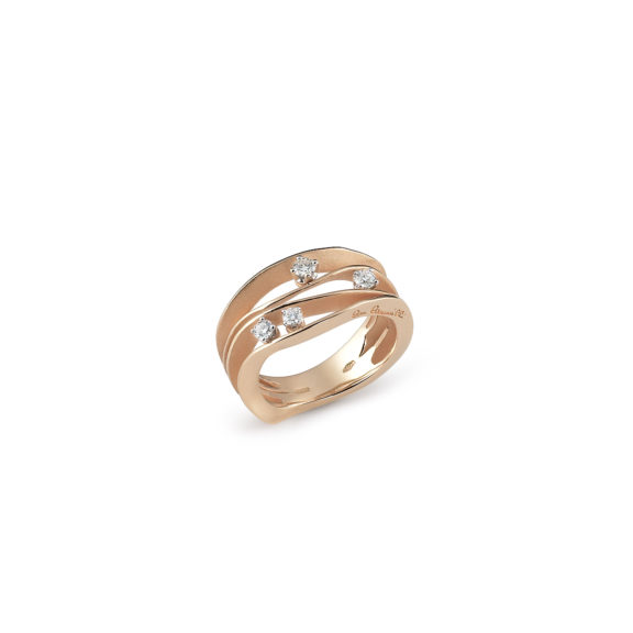 Annamaria Cammilli Dune Ring aus 18 Karat Orange Apricot Gold mit Brillanten