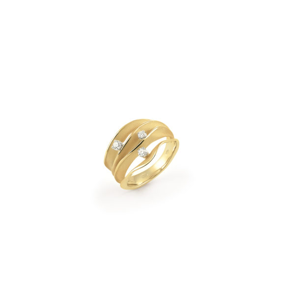 Annamaria Cammilli Dune Ring aus 18 Karat Yellow Sunrise Gold mit Brillanten