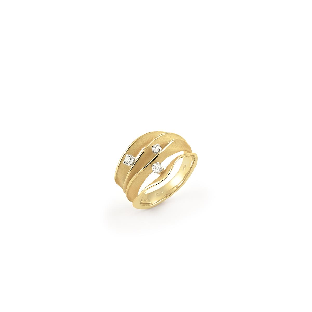 Annamaria Cammilli Dune Ring aus 18 Karat Yellow Sunrise Gold mit Brillanten