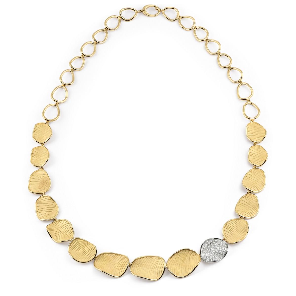 Annamaria Cammilli Velvet Collier aus Gelb- und Weißgold mit Brillanten