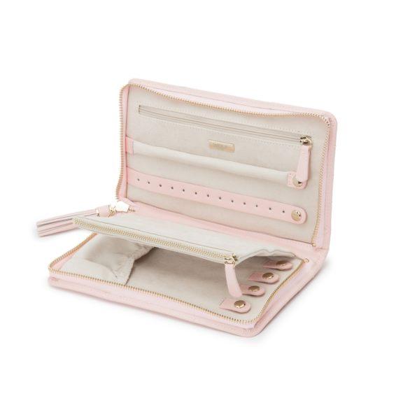 Schmuckaufbewahrungsetui aus Leder in rosa
