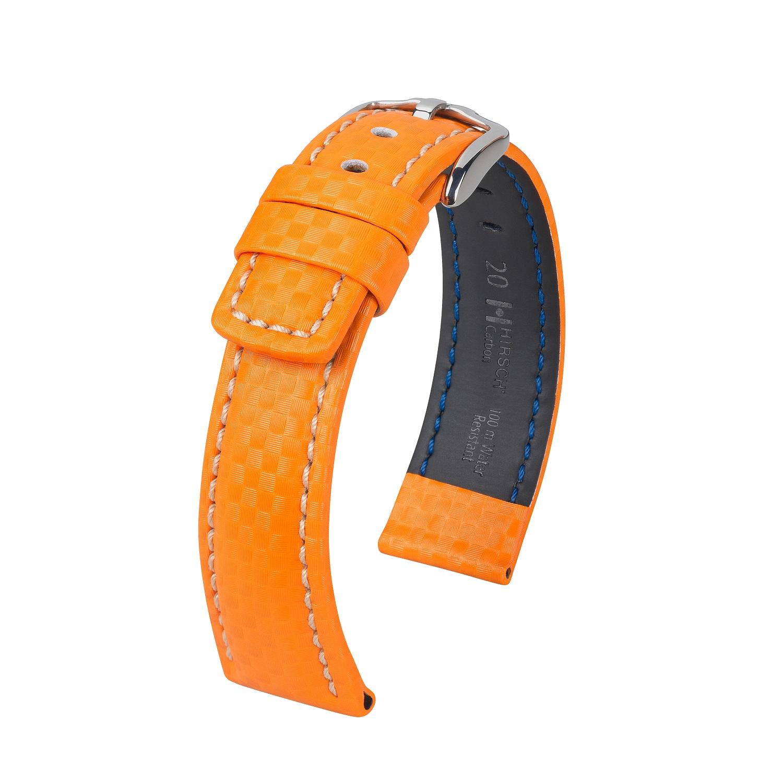oranges Uhrband aus Hi-Tech-Leder