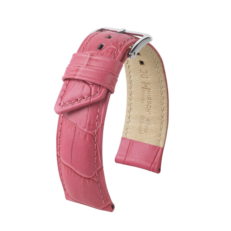 pinkfarbenes Uhrband aus Leder