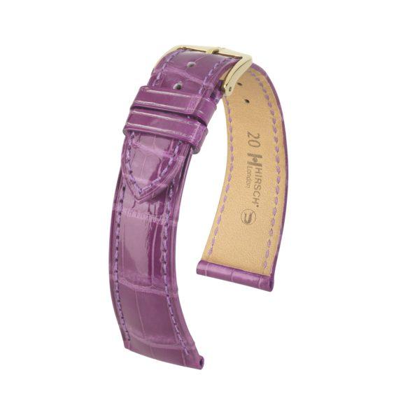 violettes Uhrband aus Leder