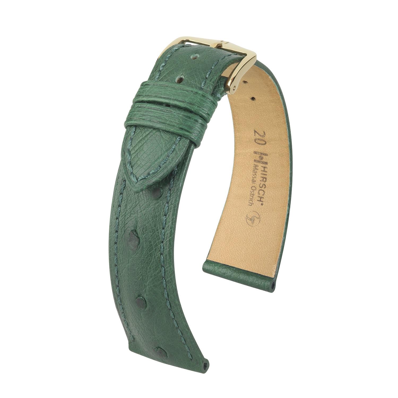 grünes Uhrband aus Leder