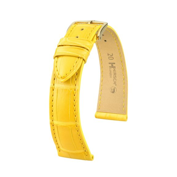 gelbes Uhrband aus Leder