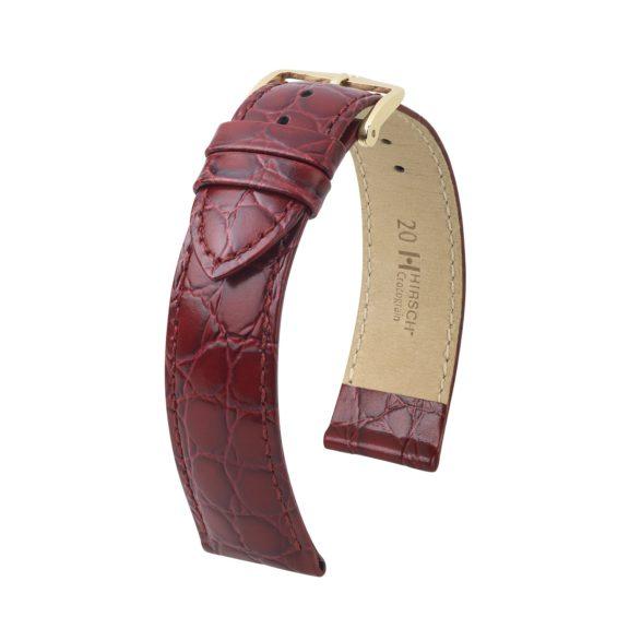 weinrotes Uhrband aus Leder