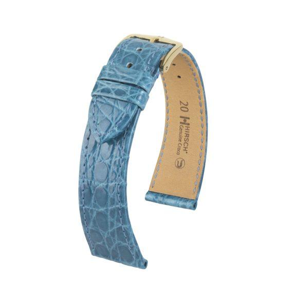 hellblaues Uhrband aus Leder