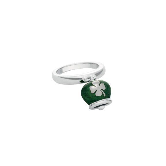 Chantecler Et voilà Ring aus Silber und grünem Emaille