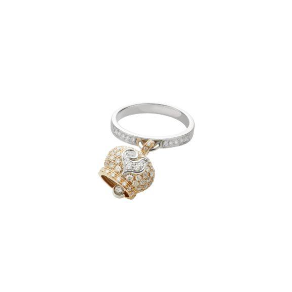 Chantecler Campanelle Ring aus Rosé- und Weißgold mit Brillanten