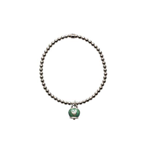 Chantecler Et voilà Armband aus Silber und grünem Emaille