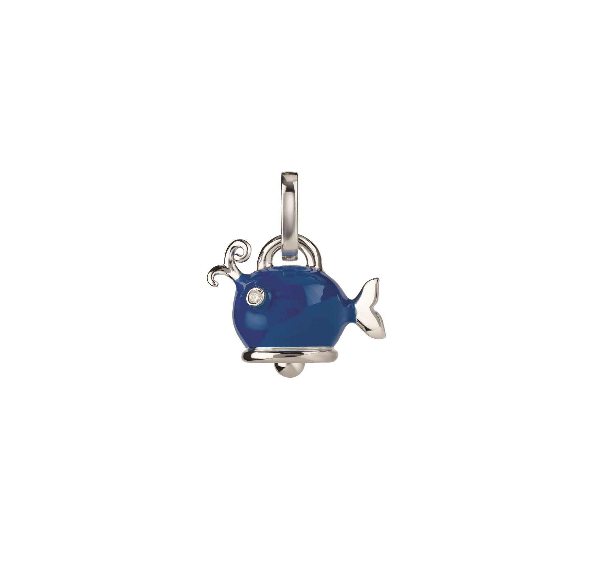 Chantecler Et voilà Anhänger aus Silber mit blauem Emaille und Diamanten