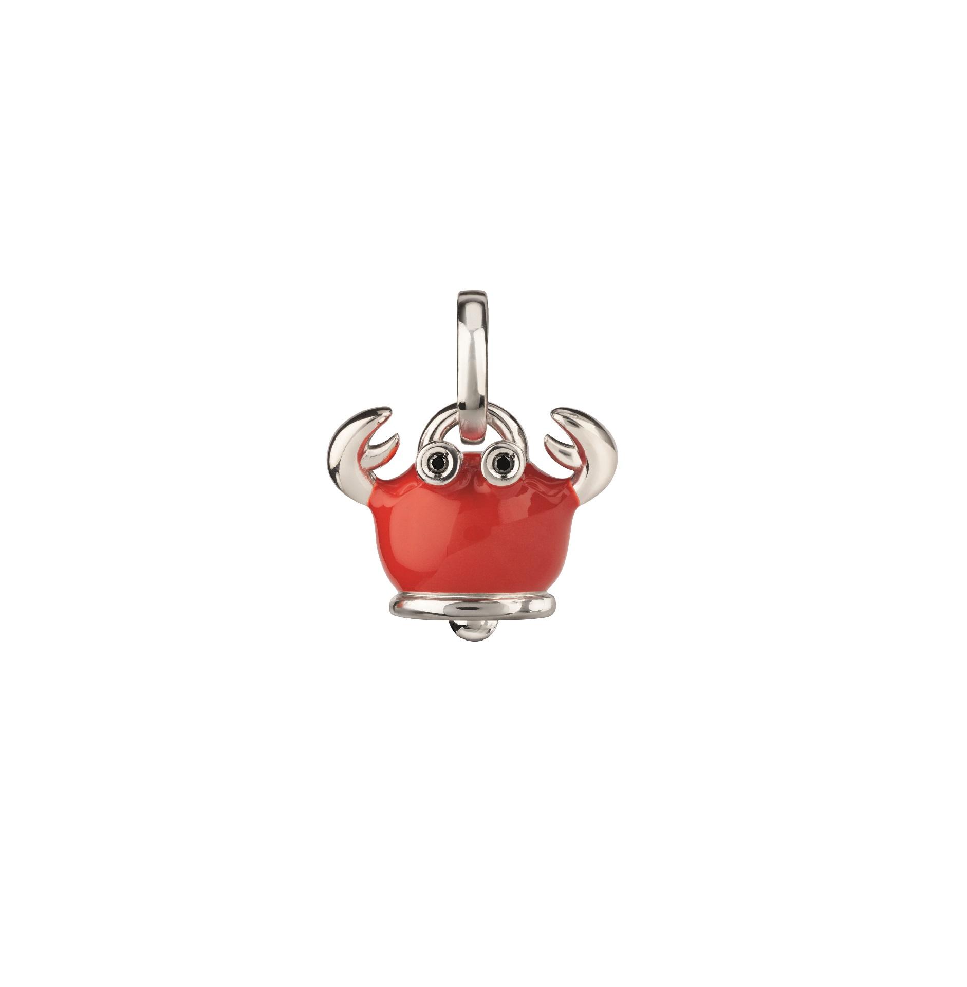 Chantecler Et voilà Anhänger aus Silber mit rotem Emaille und schwarzen Diamanten