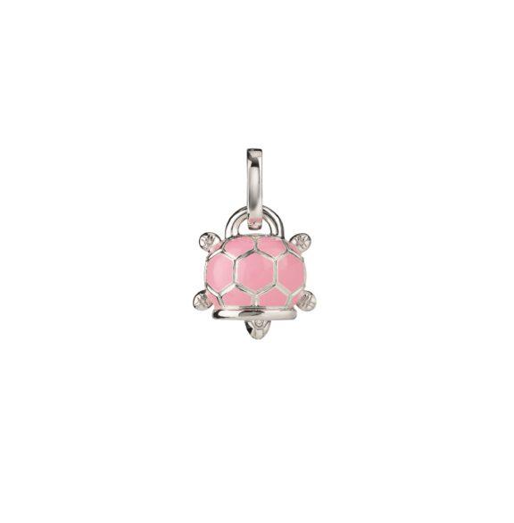 Chantecler Et voilà Anhänger aus Silber mit rosa Emaille und Diamanten