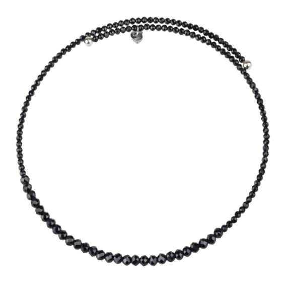Chantecler Silver Collier aus Silber und Spinell