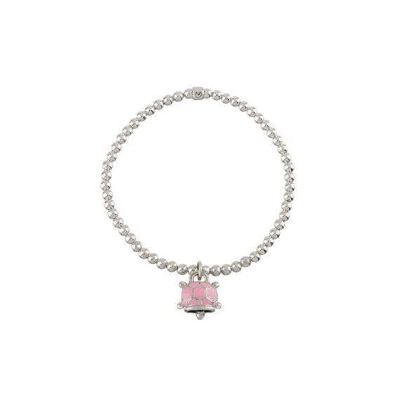 Chantecler Et voilà Armband mit Anhänger aus Silber mit rosa Emaille und Diamanten