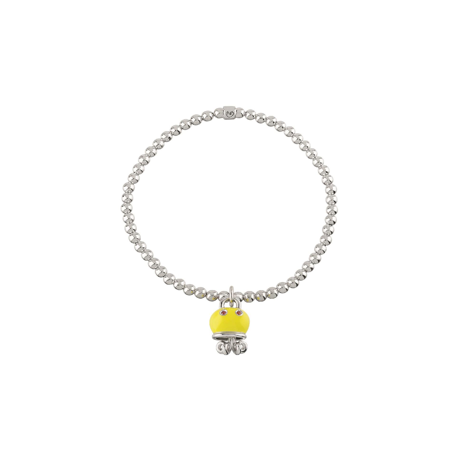 Chantecler Et voilà Armband mit Anhänger aus Silber mit gelbem Emaille und orangen Saphiren