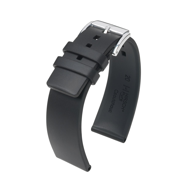 schwarzes Uhrband aus Kautschuk