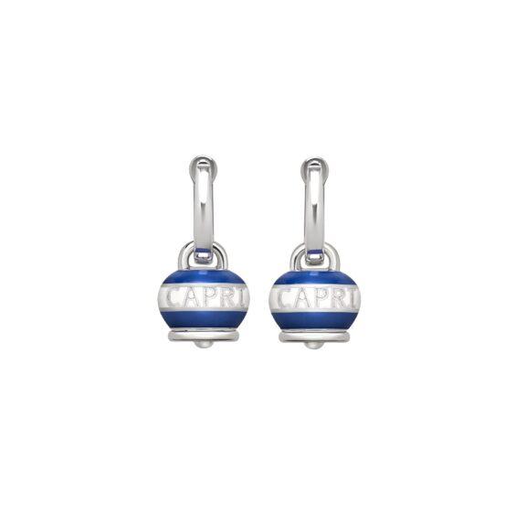 Chantecler Capriness Ohrschmuck aus Silber und blauem Emaille