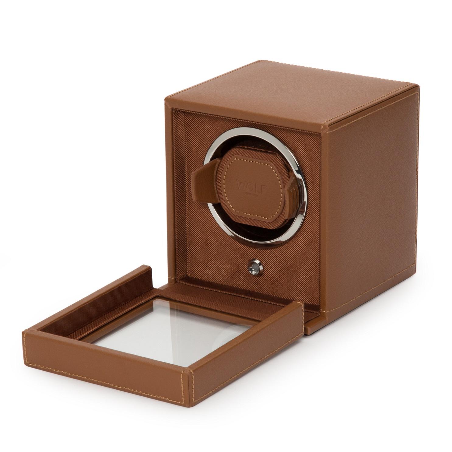 Uhrenbeweger Cub für eine Uhr in Cognac