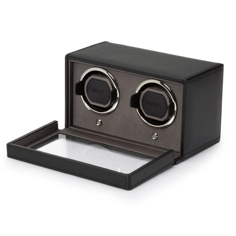 Uhrenbeweger Cub für zwei Uhren in Schwarz