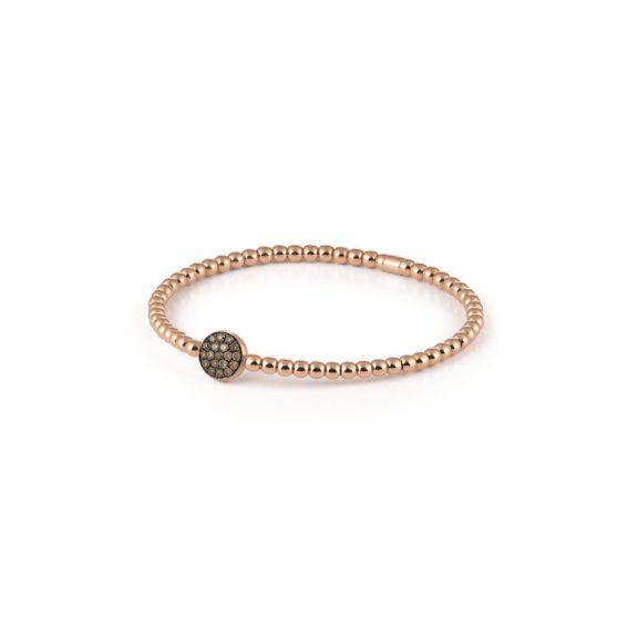 Armband Stretchy aus Roségold mit braunen Diamanten