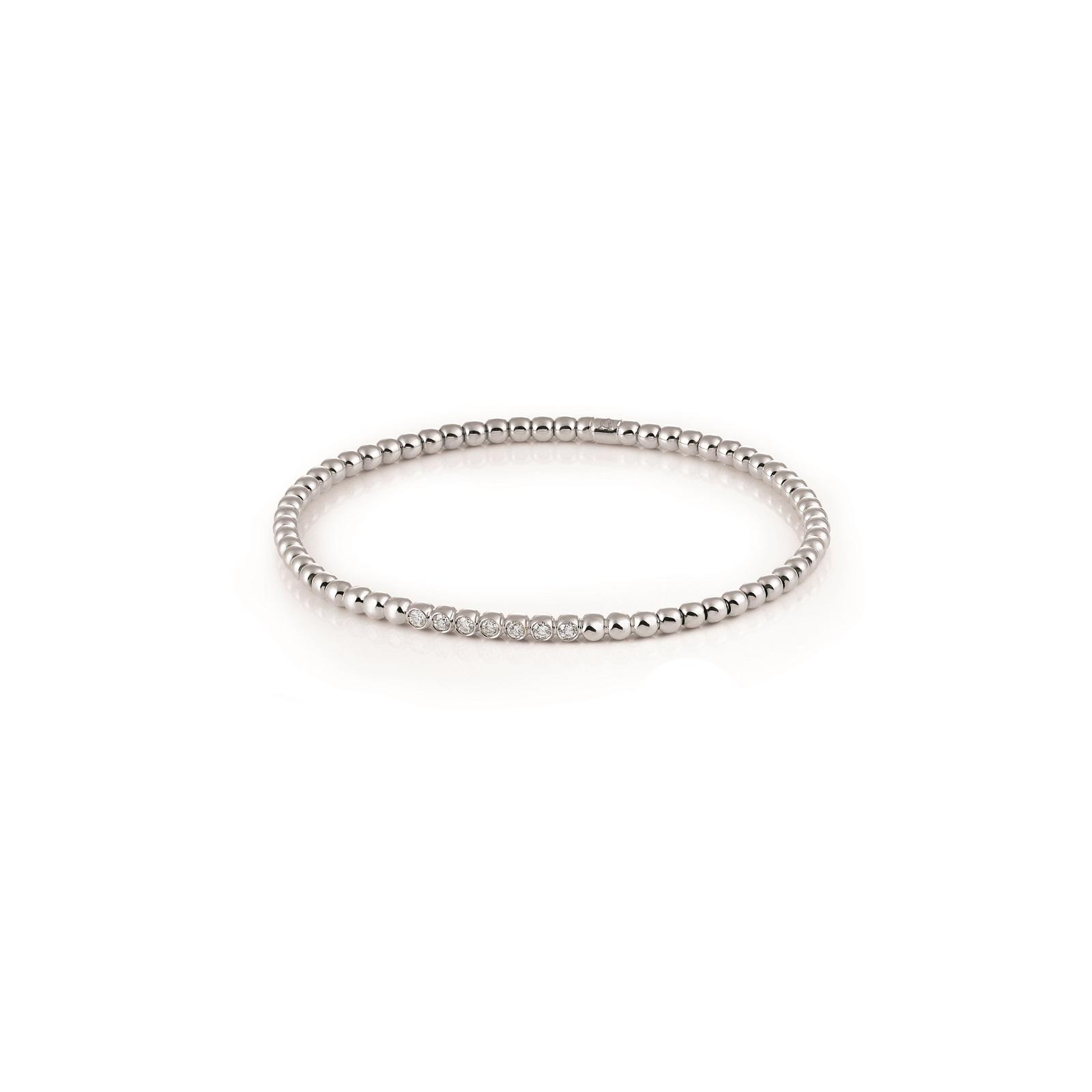 Armband Stretchy aus Weißgold mit Diamanten