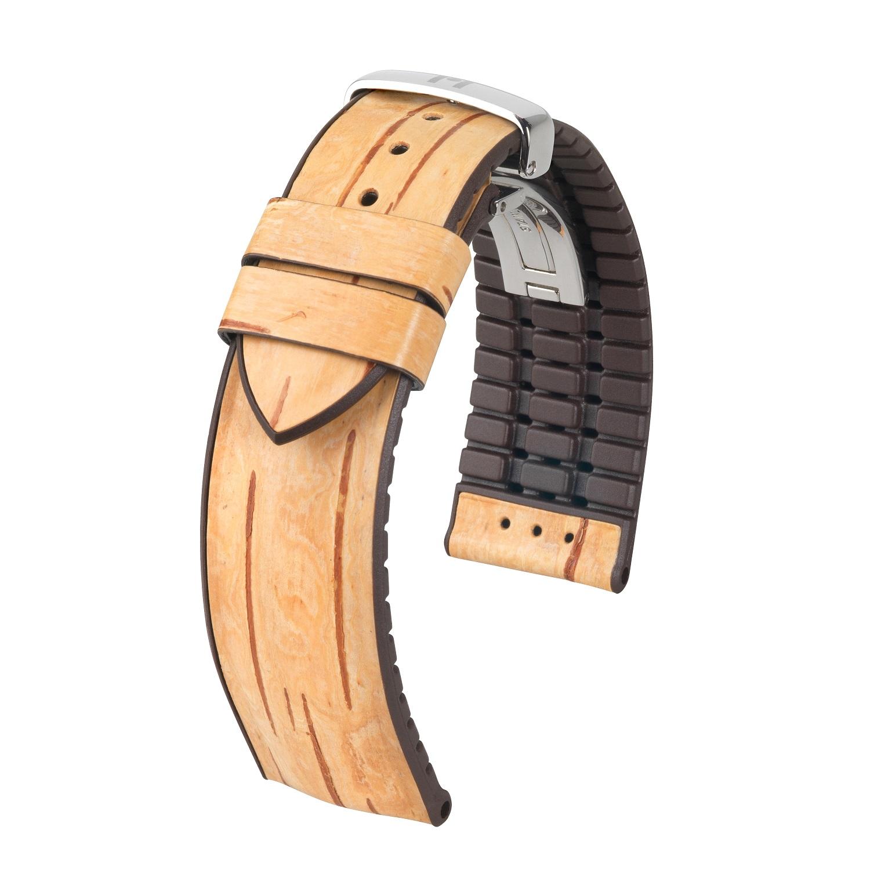 Uhrband in Holzoptik aus rein pflanzlichen Stoffen