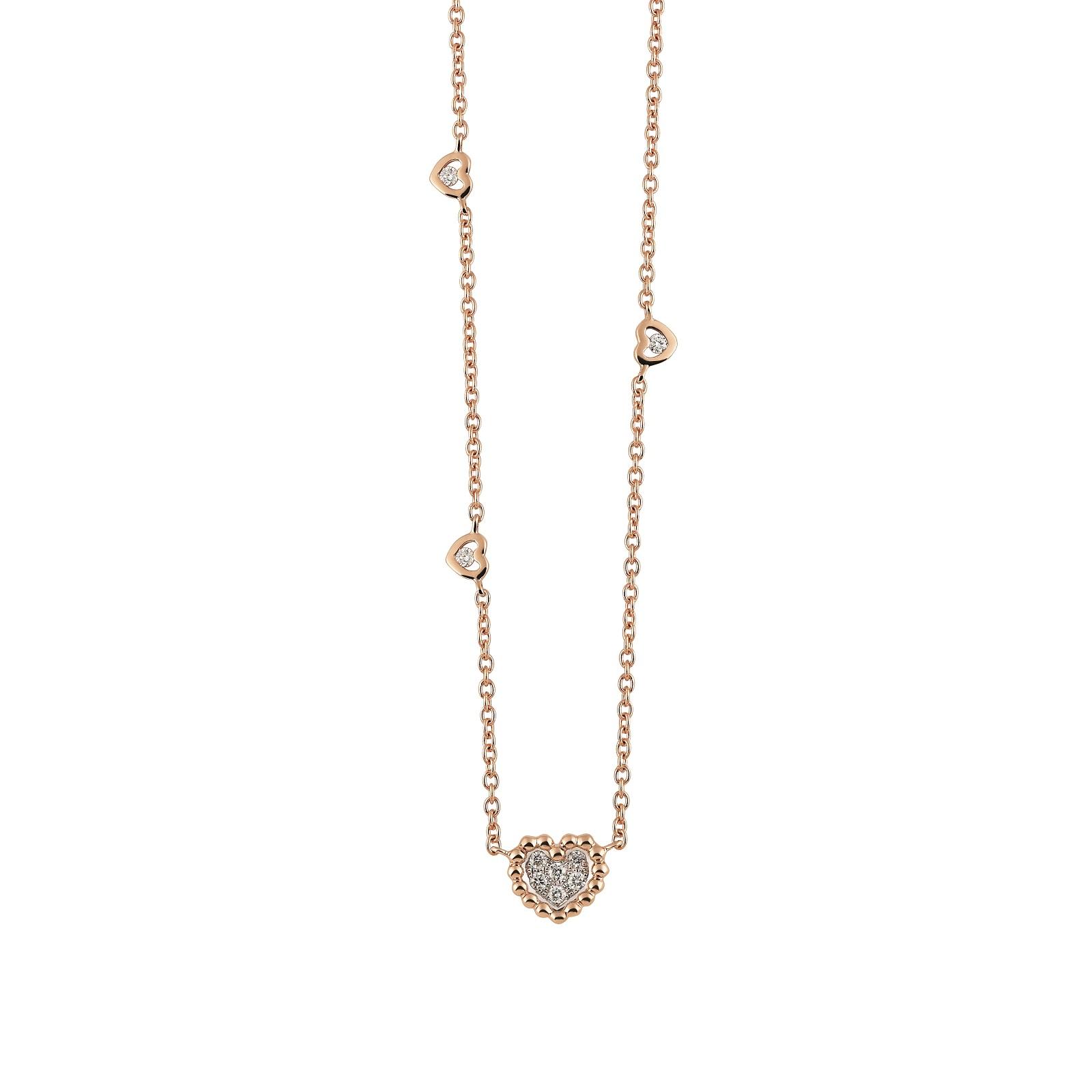 Collier Palladio aus Roségold mit Diamanten