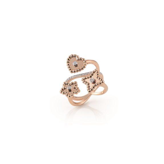 Ring Palladio aus Roségold mit Diamanten
