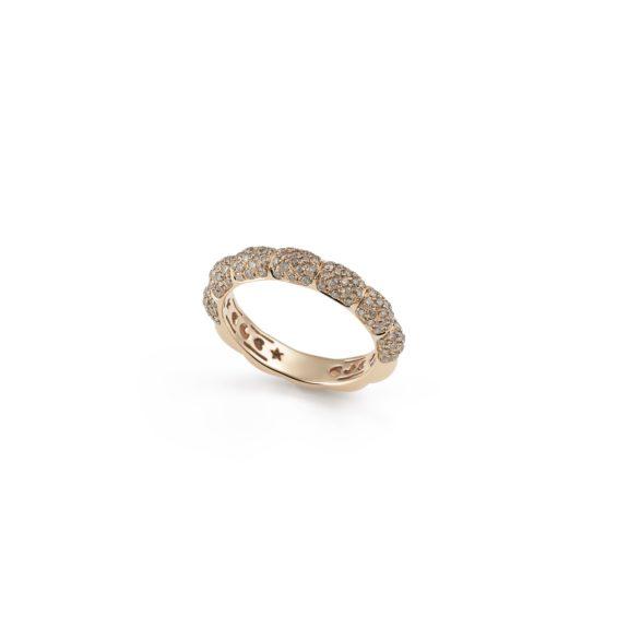 Ring La Piazza aus Roségold mit braunen Diamanten