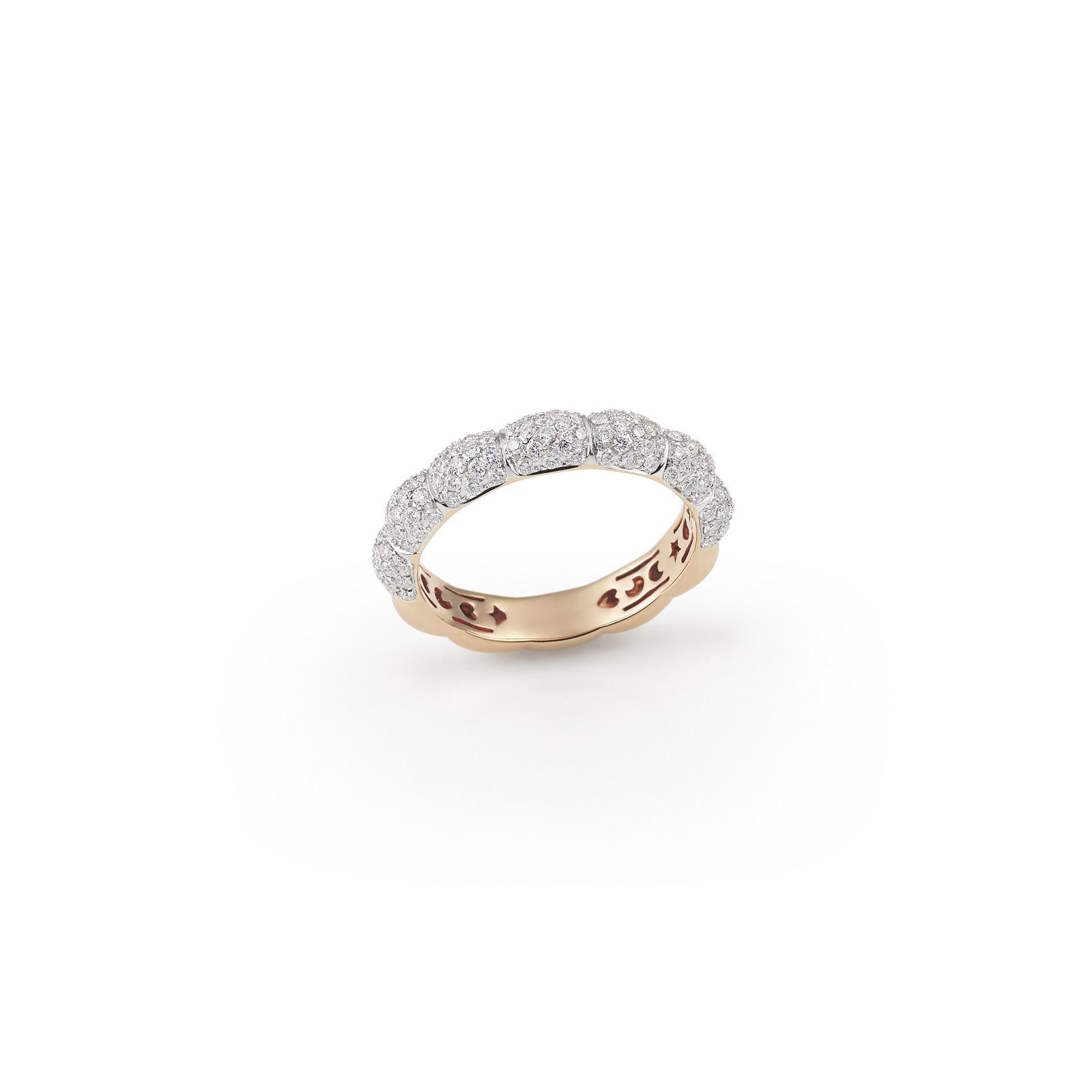 Ring La Piazza aus Roségold mit Diamanten