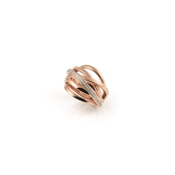 Ring Serenata aus Roségold mit Diamanten