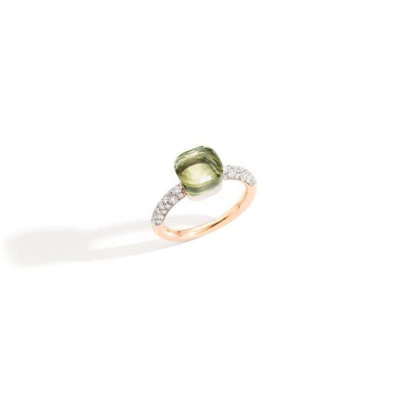 Pomellato Nudo Ring aus Roségold mit Prasiolith und Diamanten