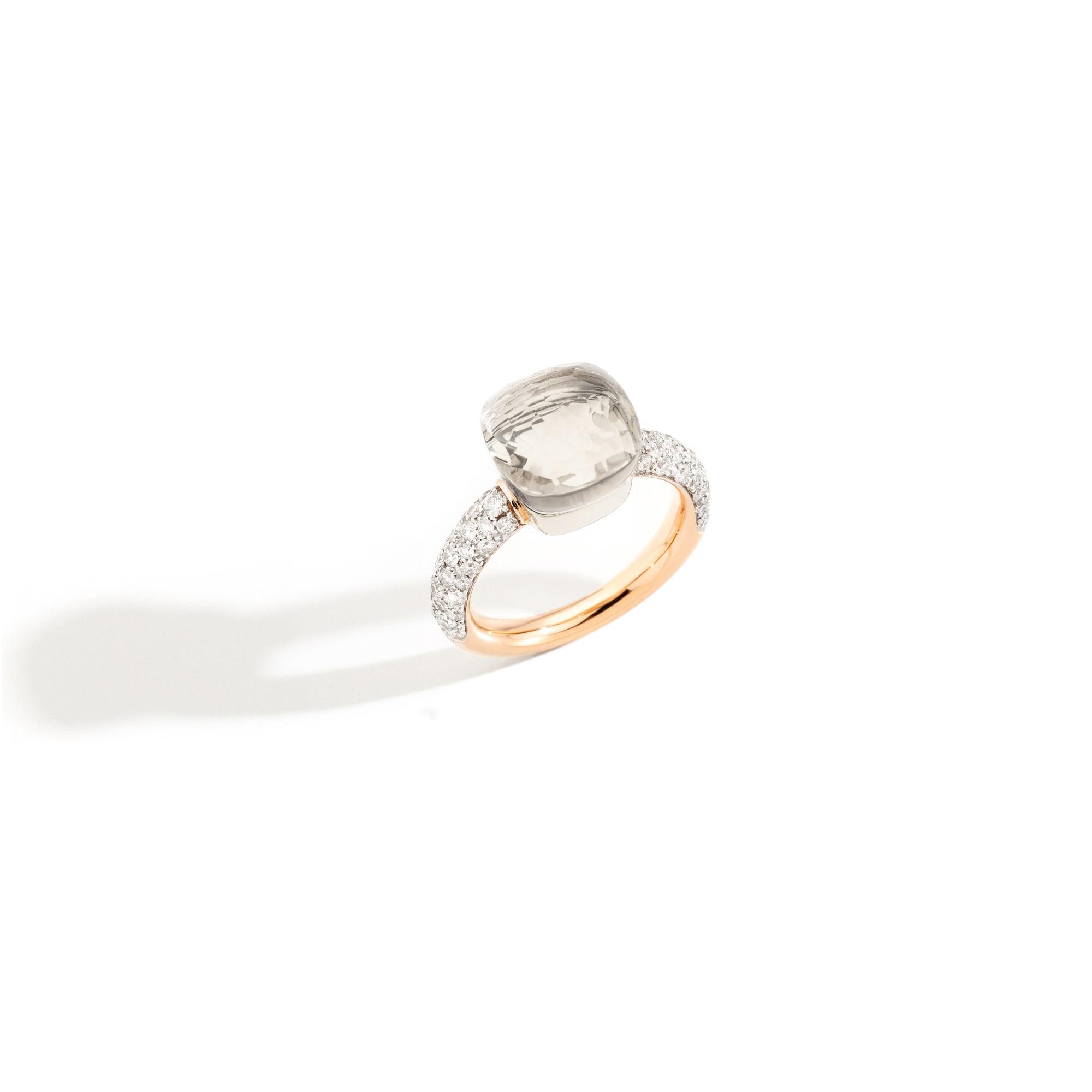 Pomellato Nudo Ring aus Roségold mit weißem Topas und Diamanten
