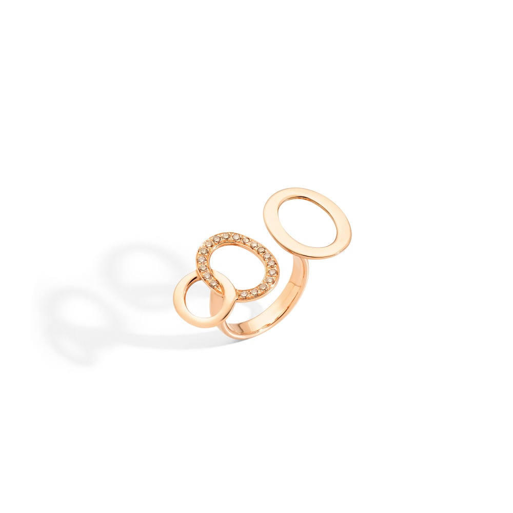 Pomellato Brera Ring aus 18 Karat Roségold mit Brillanten