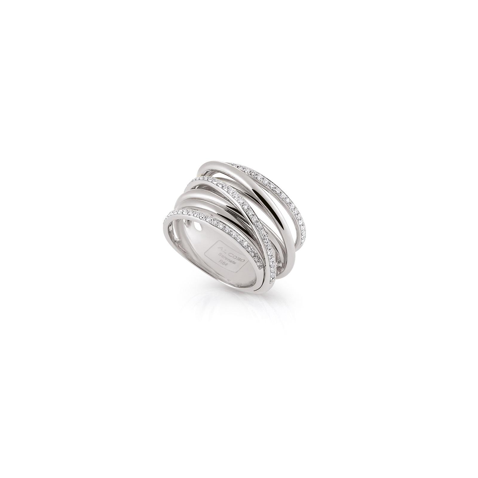 Ring Serenata aus Weißgold mit Diamanten