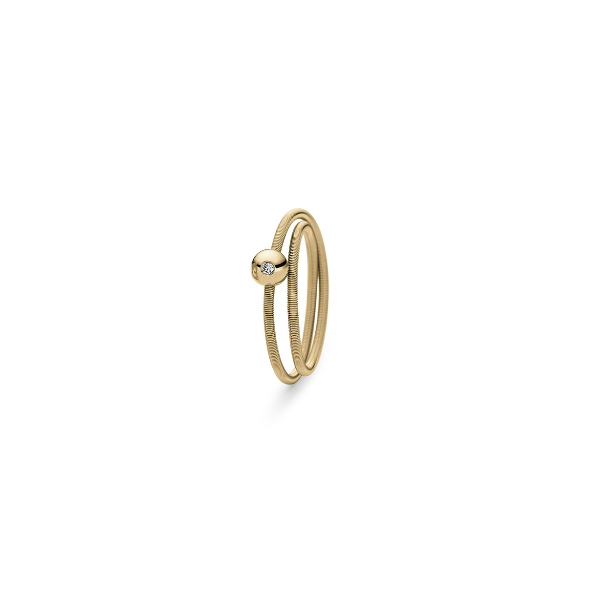 Niessing Ring Colette aus Classic Yellow Gold mit Brillant