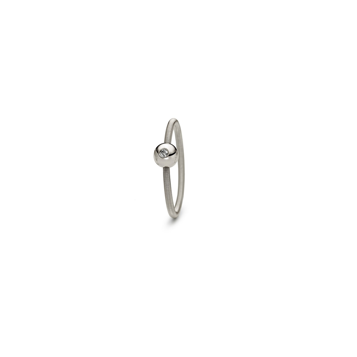 Niessing Ring Colette aus Fine Gray Gold mit Brillant