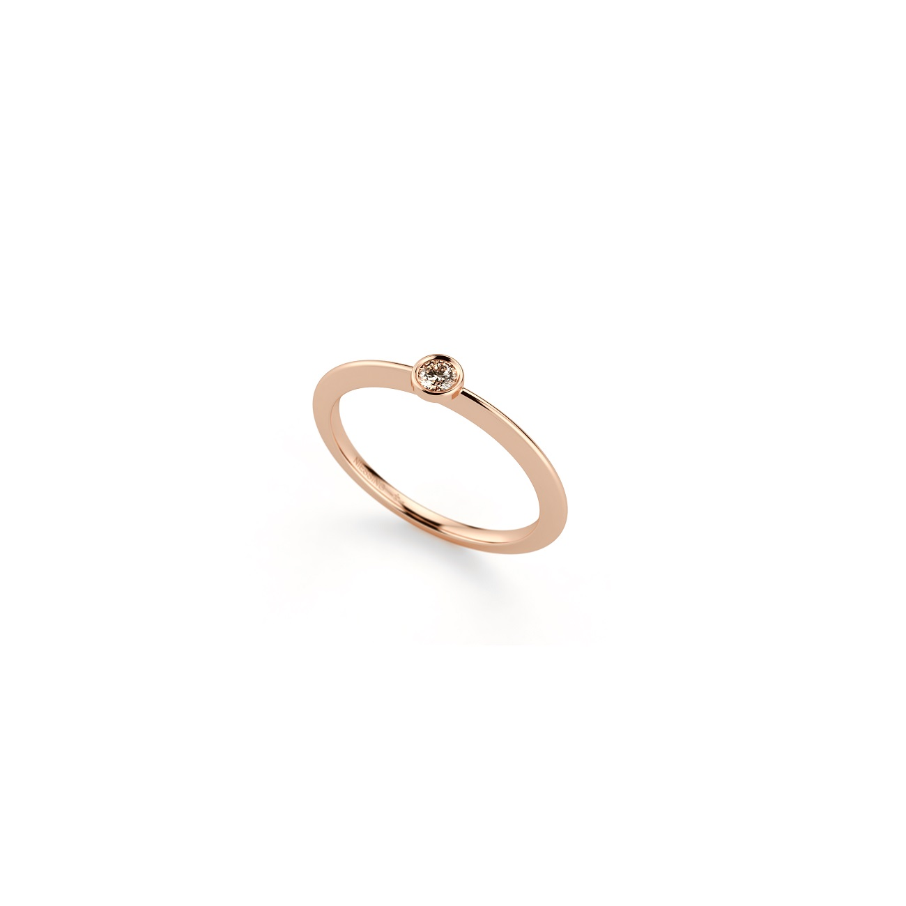 Niessing Ring Stella aus Rosewood Gold mit Brillant