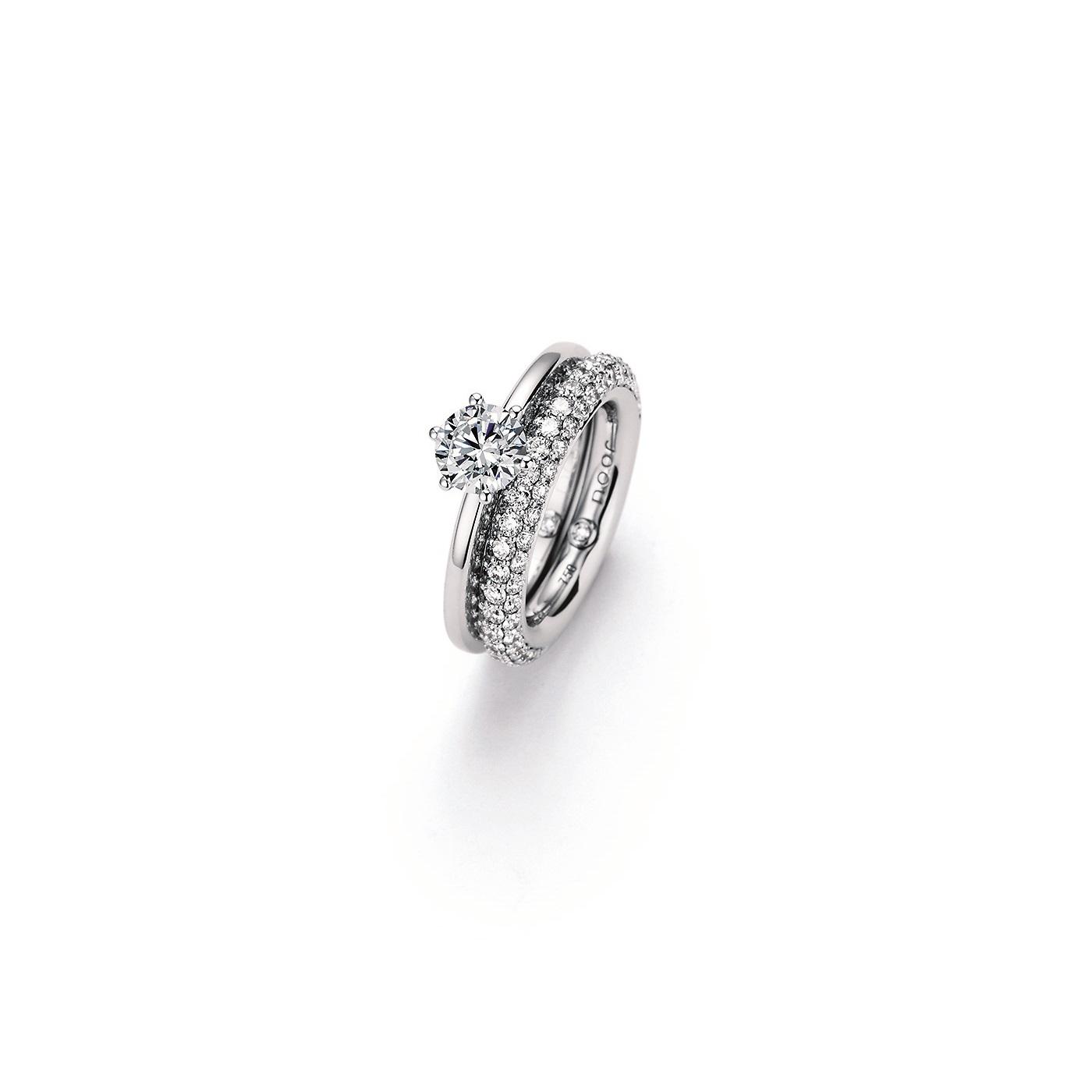 Ringe aus Weißgold mit Diamanten