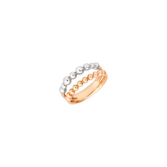 Dodo Ring aus 9 Karat Roségold uns Silber
