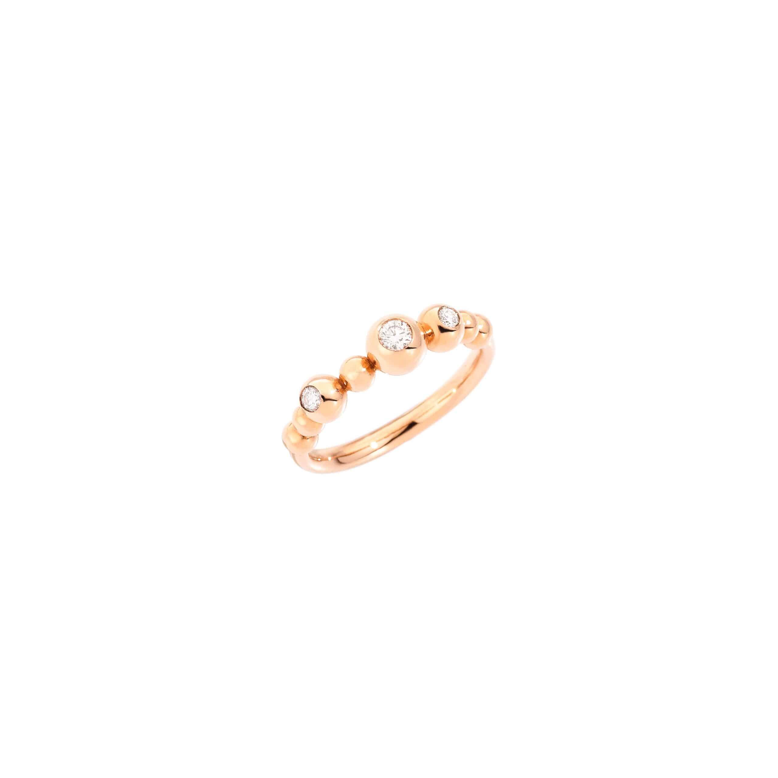 Dodo Ring aus 9 Karat Roségold mit Brillanten