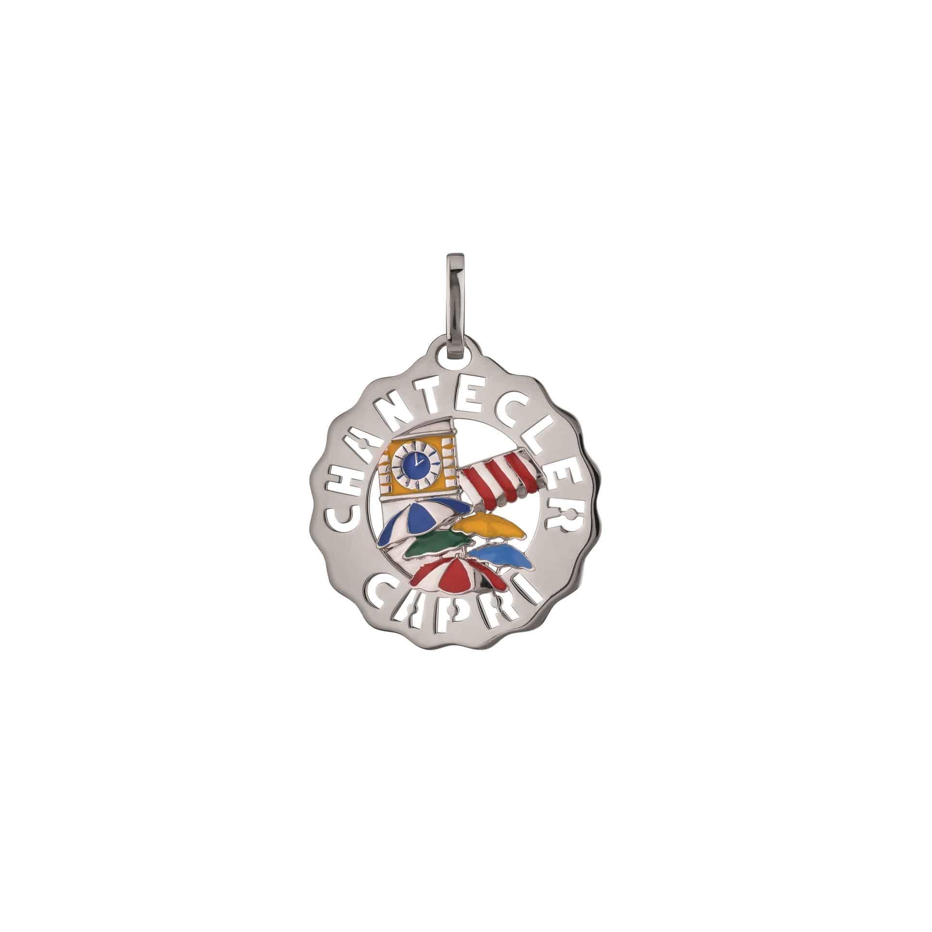 Chantecler Logo Anhänger aus Silber und Emaille